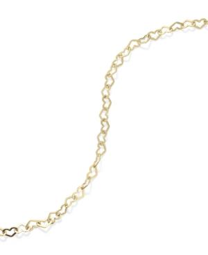 Giani Bernini 24k Gold Over Sterling Silver Anklet, Heart Chain Anklet