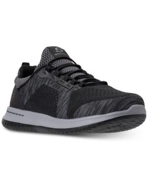 Skechers Men's Delson Brewton Wide Casual Sneakers From Finish Line