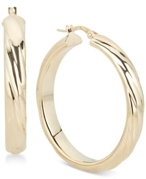 Sculptural Hoop Earrings In 14k Gold