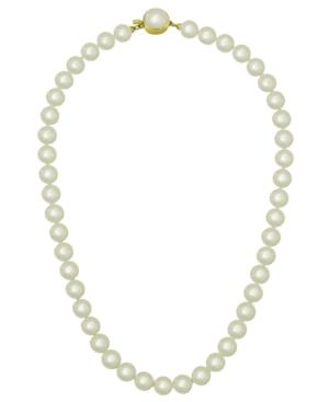 Majorica 18k Gold Over Sterling Silver Necklace, Organic Man-made Pearl