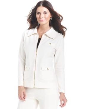 Karen Scott Petite Jacket, Long-sleeve Zip-up