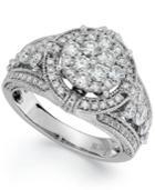 14k White Gold Diamond Ring (2 Ct. T.w.)