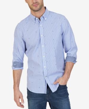Nautica Men's Striped Anchor-print Shirt