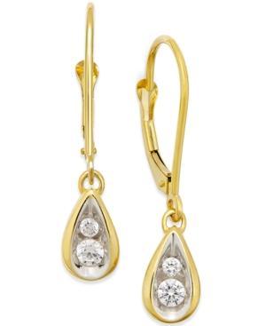 Diamond Teardrop Earrings (1/4 Ct. T.w.) In 14k Gold