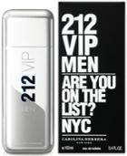 212 Vip By Carolina Herrera For Men Eau De Toilette, 3.4 Oz