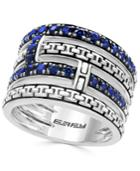 Effy Balissima Sapphire Multi-layer Statement Ring (9/10 Ct. T.w.) In Sterling Silver