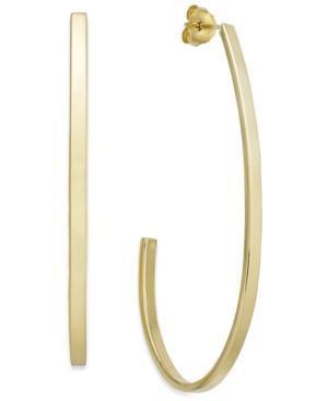 14k Gold Vermeil Earrings, J Hoop Earrings