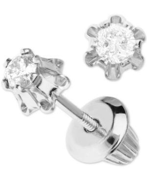 Children's Diamond Stud Earrings (1/8 Ct. T.w.) In 14k White Gold