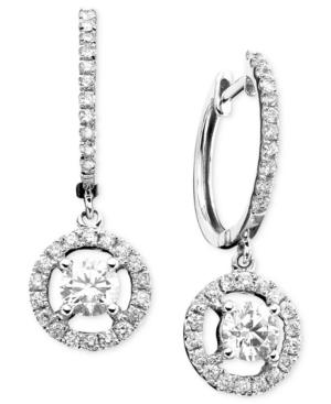 14k White Gold Earrings, Diamond Drop (7/8 Ct. T.w.)