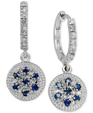 Sapphire (3/8 Ct. T.w.) And Diamond Accent Drop Earrings In 14k White Gold