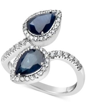 Sapphire (2-1/3 Ct. T.w.) & Diamond (1/3 Ct. T.w.) Ring In 14k White Gold