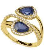 Sapphire (1-3/4 Ct. T.w) And Diamond (1/5 Ct. T.w.) Ring In 14k Gold