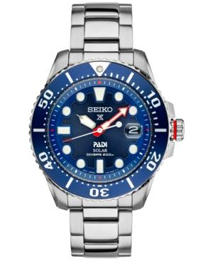 Seiko Men's Prospex Solar Padi-edition Stainless Steel Bracelet Watch 44mm Sne435