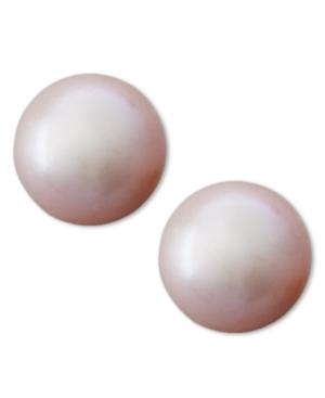 Belle De Mer Pearl Earrings, 14k Gold Pink Cultured Freshwater Pearl Stud Earrings (8mm)