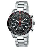 Seiko Watch, Men's Solar Chronograph Stainless Steel Bracelet 40mm Ssc007