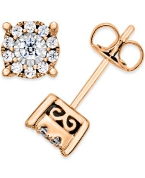 Diamond Stud Earrings (1/3 Ct. T.w.) In 14k White Gold, Rose Gold Or Gold