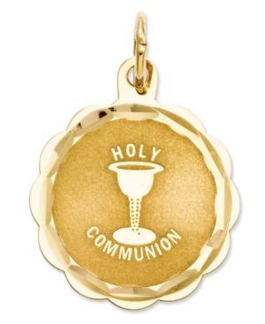 14k Gold Charm, Holy Communion Charm