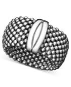 Mesh Ring In 14k Gold Vermeil Over Sterling Silver And Sterling Silver