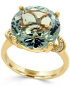 Effy Green Amethyst (8-1/3 Ct. T.w.) And Diamond Accent Statement Ring In 14k Gold