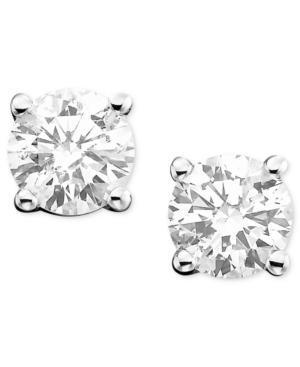 14k White Gold Diamond Stud Earrings (3/8 Ct. T.w.)
