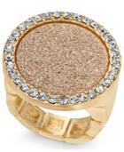 Thalia Sodi Gold-tone Pave & Glitter Ring, Created For Macy's