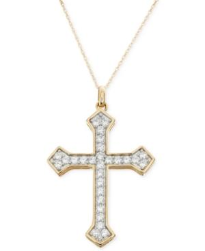 Diamond Cross Pendant Necklace (1 Ct. T.w.) In 14k Gold