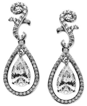Arabella Sterling Silver Earrings, Swarovski Zirconia Teardrop Earrings (9 Ct. T.w.)