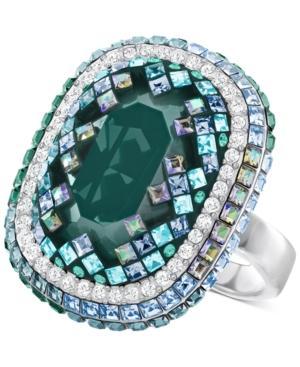 Swarovski Gaia Silver-tone Crystal Mosaic Ring
