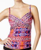 La Blanca Global Perspective Underwire Tankini Top Women's Swimsuit