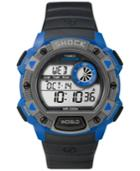 Timex Men's Digital Expedition Black Resin Strap Watch 45mm Tw4b00700