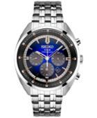 Seiko Men's Solar Chronograph Recraft Series Stainless Steel Bracelet Watch 43mm Ssc567