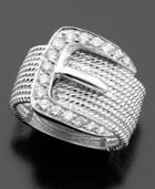 Diamond Ring In 14k White Gold (1/2 Ct. T.w.)