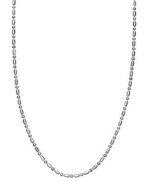 Giani Bernini Sterling Silver Necklace, Dot Dash Chain