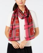 Echo Plaid Silk Scarf