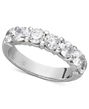 Diamond Ring, 14k White Gold Seven Certified Diamond Station Band (2 Ct. T.w.)