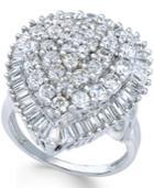 Diamond Statement Ring (3 Ct. T.w.) In 14k White Gold
