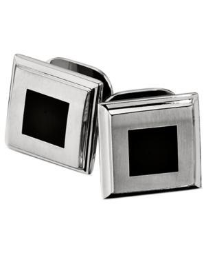 Stainless Steel Stud Set, Black Enamel Set Of Four Studs