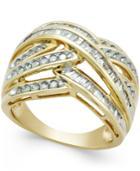 Diamond Wide Weave Ring (1 Ct. T.w.) In 10k Gold