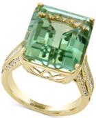 Effy Green Amethyst (16 Ct. T.w.) & Diamond (1/3 Ct. T.w.) In 14k Gold