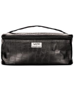 Nyx Professional Makeup Black Croc-embossed Zipper Makeup Case