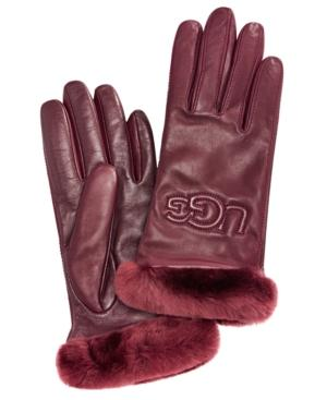 Ugg Classic Leather & Shearling Smart Gloves