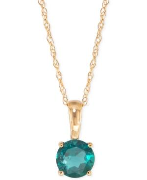 Emerald Pendant Necklace (1/2 Ct. T.w.) In 14k Gold