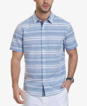 Nautica Men's Classic-fit Striped Short-sleeve Shirt