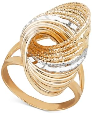 Two-tone Multi-row Love Knot Statement Ring