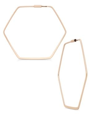 Abs By Allen Schwartz Hexagon Hoop Earrings