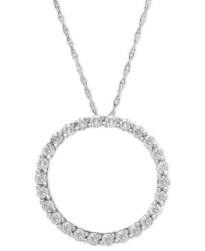 Diamond Pendant, 14k White Gold Diamond Circle (1/4 Ct. T.w.)