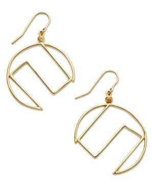 Sis By Simone I Smith 18k Gold Over Sterling Silver Earrings, Crescent Drop Earrings