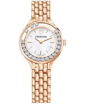 Swarovski Women's Swiss Lovely Crystals Mini Mb Rose Gold-tone Stainless Steel Bracelet Watch 31mm 5261496