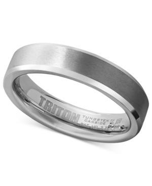 Triton White Tungsten Carbide Ring, Wedding Band (5mm)