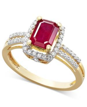 Ruby (1 Ct. T.w.) And Diamond (1/5 Ct. T.w.) Ring In 14k Gold